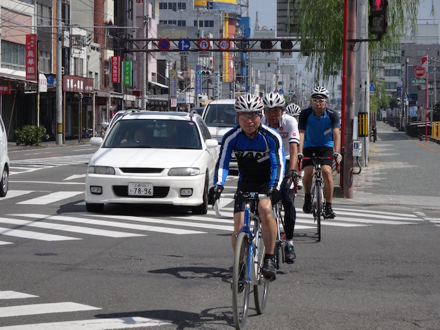 市街地の実走による交通法規講習(8月)